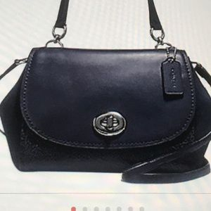 Coach F22348 Faye Crossbody leather and suede bag